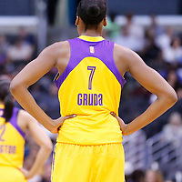 18 May 2014: Los Angeles Sparks forward/center Sandrine Gruda (7) is seen during the Phoenix Mercury 74-69 victory over the Los Angeles Sparks, at the Staples Center, Los Angeles, California, USA.