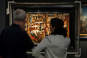 Valuable Old Masters in the Koetser Gallery - Frieze Masters 2014 - including a huge range of works from religious relics, through old masters to contemporary art with prices upto millions of pounds. Regents Park, London, 14 Oct 2014.