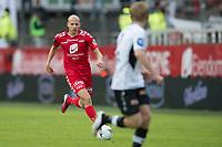 Fotball<br /> 23.04.2016<br /> Tippeligaen<br /> Brann Stadion<br /> Brann - Sogndal<br /> Ruben Kristiansen (L) , Brann<br /> Taijo Teniste (R) , Sogndal<br /> Foto: Astrid M. Nordhaug