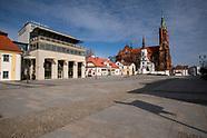 Wyludnione ulice Białegostoku z powodu epidemii koronawirusa