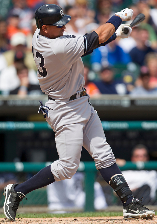 June 03, 2012:  New York Yankees third baseman Alex Rodriguez (13) at bat during MLB game action between the New York Yankees and the Detroit Tigers at Comerica Park in Detroit, Michigan.  The Yankees defeated the Tigers 5-1.