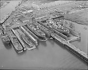 "Ackroyd 11639-10 ""Port of Portland. Aerials.  April 25, 1963"" (swan island)"