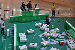 October 13, 2017 - Chongqing, China - People playing a special giant Mahjong contest at a shopping mall in Shenyang, northeast China's Liaoning Province. (Credit Image: © SIPA Asia via ZUMA Wire)