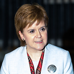 London, November 14 2017. First Minister of Scotland and leader of the SNP Nicola Sturgeon addresses the media after being welcomed at 10 Downing Street by British Prime Minister Theresa May. © Paul Davey