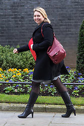 Secretary of State for Northern Ireland Karen Bradley arrives at 10 Downing Street in London to attend the weekly meeting of the UK cabinet - London. February 06 2018.