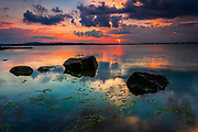 Calm sunset by the sea