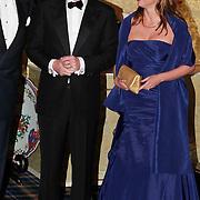 NLD/Noordwijk/20101028 - Bezoek van de Zweedse prinses Victoria en Willem Alexander aan feestavond 50 jarig bestaan Zweedse Kamer van Koophandel, samen met Prins Carlos Xavier Bourbon de Parma en partner Annemarie Gualthérie van Weezel