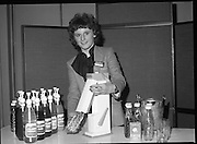 24/01/1979.01/24/1979.24th January 1979.Photograph shows an unidentified women making SodaStream at the Irish launch in the Burlington Hotel, Dublin.