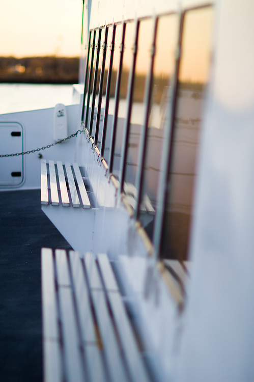 Seating of the New York Water Way Finest fast ferry.