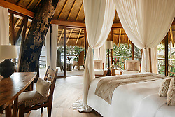 David and Victoria Beckham and their brood are living it up in a $6,500-a-night hotel after escaping the deadly Bali earthquake zone. The family had been enjoying a luxury retreat in Bali, but following an earthquake in the neighboring island of Lombok last week that left at least 321 dead, the football ace decided to evacuate his family 450 miles away from the disaster zone to a private island of Sumba near Indonesia. David and Victoria along with their children Brooklyn, 19, Romeo 15, Cruz 12, and Harper, 7, arrived at the Nihi resort on Sunday, according to media reports, and are staying in a stunning four-bedroom villa complete with its own pool, which goes for $6,500-a-night. But according to reports, the hotel — which has twice been voted the best hotel in the world by travel writers — is putting the Beckhams up for free. The family arrived to the island on Sunday and are said to have flown in by private jet before being whisked off to the Nihi resort in a SUV. As these photos shows, the stunning resort is the picture-perfect paradise and is located close to one of the region's best surfing beaches. The resort boasts 27 villas and 38 rooms ranging in size, with all accommodations having a private pool, and the hotel is set on a 2.5km stretch of private beach and surrounded by lush greenery. The hotels asks guests who visit the local villages to wear appropriate clothing, including a sarong — so David should fee right at home — and a T-shirt that covers the shoulders. David and the boys have reportedly enjoyed surfing during their stay, while former Spice Girls Victoria and Harper have been pampered in the hotel's spa. 13 Aug 2018 Pictured: David Beckham and his family are staying at the ultra luxurious Nihi resort on the private island of Sumba near Indonesia after escaping the Bali earthquake zone. CAPTION: Treehouse villa. Photo credit: Nihi/ MEGA TheMegaAgency.com +1 888 505 6342