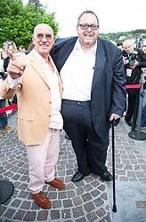 """08.05.2015, Schlosshotel Velden, AUT, 25 Jahre, Ein Schloss am Wörthersee, Pressekonferenz zur Buchpräsentation """"Hollywood am Wörthersee - 100 Jahre Filmland Kärnten"""", im Bild v.l. Otto Retzer Ottfried Fischer // Otto Retzer ( L ) Ottfried Fischer ( R ) during press conference for book presentation 'Hollywood am Wörthersee - 100 years of film Carinthia' as a side Event of 25th anniversary of tv series """"Ein Schloss am Wörthersee"""" at the Schlosshotel Velden, Austria on 2015/05/08. EXPA Pictures © 2015, PhotoCredit: EXPA/ Johann Groder"""