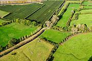 Nederland, Zeeland, Gemeente Borsele, 19-10-2014;  Zak van Zuid-Beveland, omgeving Nisse. Kleinschalig landscap van binnendijken en kleine polders. Meidoorn heggenlandschap en 'oudland'. Waardevol Cultuurlandschap.<br /> Old Polders and ancient hedges in Zealand, Southwest Netherlands.<br /> luchtfoto (toeslag op standard tarieven);<br /> aerial photo (additional fee required);<br /> copyright foto/photo Siebe Swart
