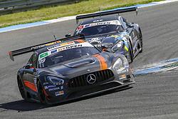 April 14, 2018 - Estoril, Estoril, Portugal - Mercedes AMG GT3 of Sports and You driven by Antonio Coimbra and Luis Silva during Race 1 of International GT Open, at the Circuit de Estoril, Portugal, on April 14, 2018. (Credit Image: © Dpi/NurPhoto via ZUMA Press)