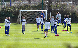EXCLUSIVE Following his team's 6-0 capitulation at Manchester City yesterday, manager Maurizio Sarri is seen taking charge of this morning's training session at Chelsea's Cobham training ground. As rumours continue to swirl about Sarri's future as manager, it was significant to see he was not wearing official training kit, instead opting to wear his own casual attire.<br /><br />11 February 2019.<br /><br />Please byline: IKM PICS/Jim Bennett/Vantagenews.com