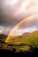 Rainbow seen from Ladies' View, Killarney Lakes, Killarney National Park, County Kerry, Ireland