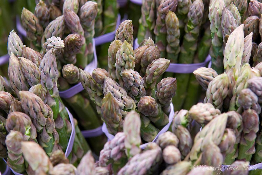 Fresh asparagus for sale at a local farmers market