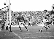 Roscommon score another point as the Armagh goalie stands defeated during the All Ireland Senior Gaelic Football Semi Final Replay Roscommon v Armagh in Croke Park on the 28th August 1977. Armagh 0-15 Roscommon 0-14.