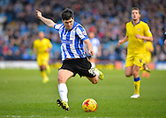 Sheffield Wednesday Forward Fernando Forestieri with a shoot on goal during the Sky Bet Championship match between Sheffield Wednesday and Leeds United at Hillsborough, Sheffield, England on 16 January 2016. Photo by Adam Rivers.
