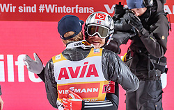 10.03.2018, Holmenkollen, Oslo, NOR, FIS Weltcup Ski Sprung, Raw Air, Oslo, Teamspringen, im Bild Daniel Andre Tande (NOR), Robert Johansson (NOR) // Daniel Andre Tande of Norway, Robert Johansson of Norway during Team Competition of the 1st Stage of the Raw Air Series of FIS Ski Jumping World Cup at the Holmenkollen in Oslo, Norway on 2018/03/10. EXPA Pictures © 2018, PhotoCredit: EXPA/ JFK