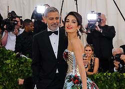 May 7, 2018 - New York, NY, U.S. - 07 May 2018 - New York, New York - George Clooney, Amal Clooney. 2018 Metropolitan Museum of Art Costume Institute Gala: ''Heavenly Bodies: Fashion and the Catholic Imagination. Photo Credit: Christopher Smith/AdMedia (Credit Image: © Christopher Smith/AdMedia via ZUMA Wire)