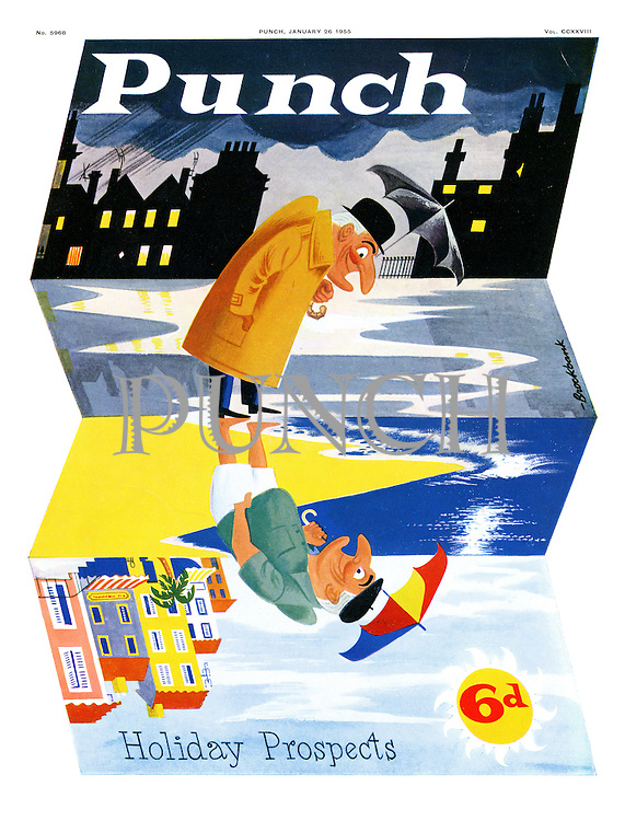 Punch cover 26 January 1955. Holiday Propects