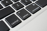 Apple macbook pro computer keyboard control, alt, option and command keys <br />