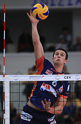 Mitja Gasparini at volleyball match of CEV Indesit Champions League Men 2008/2009 between Trentino Volley (ITA) and ACH Volley Bled (SLO), on November 4, 2008 in Palatrento, Italy. (Photo by Vid Ponikvar / Sportida)