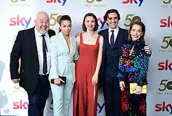Cliff Parisi, Leonie Elliott, Jennifer Kirby, Stephen McGann and Laura Main attending the TRIC Awards 2019 50th Birthday Celebration held at the Grosvenor House Hotel, London.