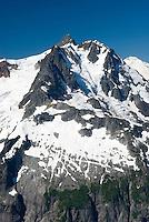 NE face of Mount Shuksan (9131 feet, 2783 meters) seen from summit of Ruth Mountain, North Cascades Washington