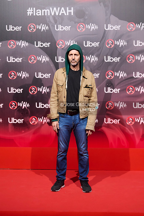 Alejo Stivel attends 'Wah' Musical Show World Premiere Red Carpet at IFEMA on October 7, 2021 in Madrid, Spain