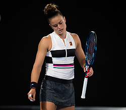 January 18, 2019 - Melbourne, AUSTRALIA - Carla Suarez Navarro of Spain in action during her third-round match at the 2019 Australian Open Grand Slam tennis tournament (Credit Image: © AFP7 via ZUMA Wire)