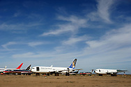 15th October 2007. Mojave, California. The aircraft graveyard, in The Mojave Desert. Aircraft from all over the world are stored for future use or broken down for scrap. PHOTO © JOHN CHAPPLE / REBEL IMAGES.310 570 9100..