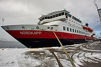 MS Nordkapp docked in Ålesund. Image taken with a Nikon 1 V2 camera and 10 mm f/2.8 lens.