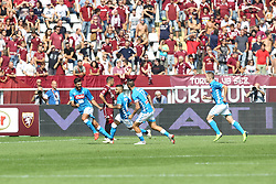 September 23, 2018 - Turin, Piedmont, Italy - Lorenzo Insigne (SSC Napoli) celebrates after scoring during the Serie A football match between Torino FC and SSC Napoli at Olympic Grande Torino Stadium on September 23, 2018 in Turin, Italy. (Credit Image: © Massimiliano Ferraro/NurPhoto/ZUMA Press)