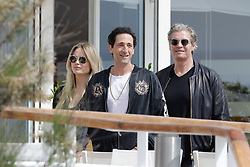 Adrian Brody and Natasha Poly and Peter Bakker at the Eden Roc hotel during the 2019 Cannes Film Festival. In Antibes, France, on May 19, 2019. Photo by Thibaud MORITZ ABACAPRESS.COM