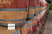 Oak barrel aging and fermentation cellar. Louis Jadot, Beaune, Burgundy France