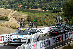 Car of Team Slovenia during Women Elite Road Race at UCI Road World Championship 2020, on September 26, 2020 in Imola, Italy. Photo by Vid Ponikvar / Sportida