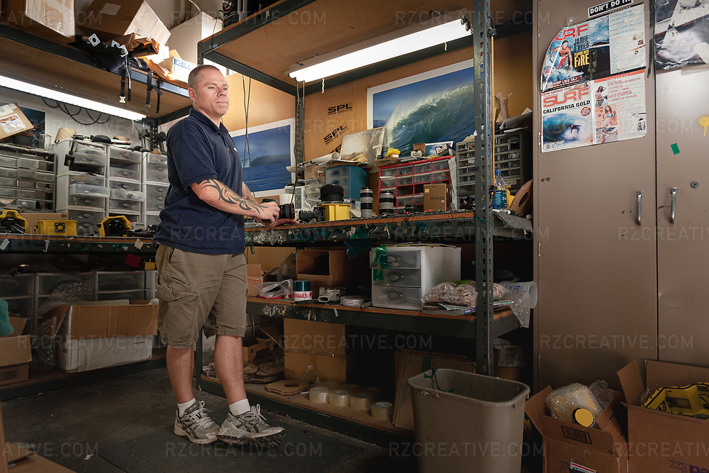 Portrait of Sean LaBrie of SPL Waterhousings at his facility in San Diego, Calif. Photo © Robert Zaleski / rzcreative.com<br /> — To license this image contact: robert@rzcreative.com