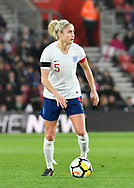 Steph Houghton (5) of England during the FIFA Women's World Cup UEFA Qualifier match between England Ladies and Wales Women at the St Mary's Stadium, Southampton, England on 6 April 2018. Picture by Graham Hunt.