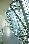 Windows and walkway at Guggenheim museum in Bilbao, Spain