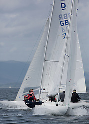 International Dragon Class Scottish Championships 2015.<br /> <br /> Day 1 racing in perfect conditions.<br /> <br /> GBR791,  Christinanna<br /> <br /> <br /> Credit Marc Turner