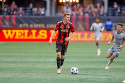 October 21, 2018 - Atlanta, GA, U.S. - ATLANTA, GA - OCTOBER 21: Atlanta United defender Julian Gressel (24) during the MLS game between the Atlanta United and the Chicago Fire on October 21, 2018 at the Mercedes-Benz Stadium in Atlanta, GA. Atlanta United FC secured a place in next year's CONCACAF Champions League with a 2-1 victory against the visiting Chicago Fire. (Photo by John Adams/Icon Sportswire) (Credit Image: © John Adams/Icon SMI via ZUMA Press)
