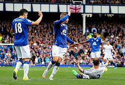 Branislav Ivanovic of Chelsea appeals for a foul - Mandatory byline: Matt McNulty/JMP - 07966386802 - 12/09/2015 - FOOTBALL - Goodison Park -Everton,England - Everton v Chelsea - Barclays Premier League