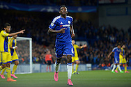Baba Rahman of Chelsea in action. UEFA Champions League group G match, Chelsea v Maccabi Tel Aviv at Stamford Bridge in London on Wednesday 16th September 2015.<br /> pic by John Patrick Fletcher, Andrew Orchard sports photography.
