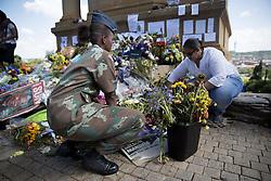 Dec. 12, 2013 - Dec. 12, 2013 - The death of Nelson Mandela..Mourning people waiting to see Nelson Mandela on lit de parade at Union buildings in Pretoria, South Africa  (Credit Image: © Wennman Magnus/Aftonbladet/IBL/ZUMAPRESS.com)