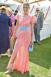Jessica Hart at Cartier Queen's Cup Polo, Guard's Polo Club, Berkshire, England. 18 June 2017.