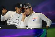 October 8-11, 2015: Russian GP 2015: Lewis Hamilton (GBR), Mercedes, Sergio Perez (MEX), Force India