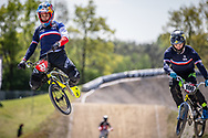 #33 (DAUDET Joris) FRA during practice of Round 3 at the 2018 UCI BMX Superscross World Cup in Papendal, The Netherlands