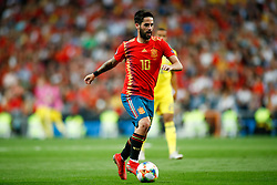 June 10, 2019 - Madrid, MADRID, SPAIN - Francisco Roman Alarcon Suarez (Isco) of Spain during the 2020 UEFA European Championships group F, European Qualifiers, played between Spain and Sweden at Santiago Bernabeu Stadium in Madrid, Spain, on June 10, 2019. (Credit Image: © AFP7 via ZUMA Wire)