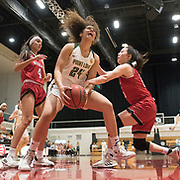 During the PacWest basketball championships in the Felix Event Center at Azusa Pacific University Thursday, Mar. 5, 2020, in Azusa. (Mandatory Credit: Norman Timonera-Sports Shooter Academy)